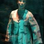 """Kostium do spektaklu """"Krwawe Wesele"""", druk sublimacyjny na tkaninie, projekt: Małgorzata Szydłowska, Teatr Łaźnia Nowa"""