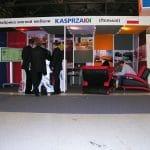 Stoisko targowe w Moskwie zbudowane z wykorzystaniem grafiki drukowanej na tkaninie – firma Kasprzak