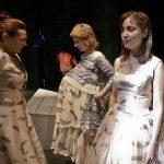 """Kostiumy dospektaklu """"Krwawe Wesele"""", sublimacyjny druk tkanin, projekt: Małgorzata Szydłowska, Teatr Łaźnia Nowa"""