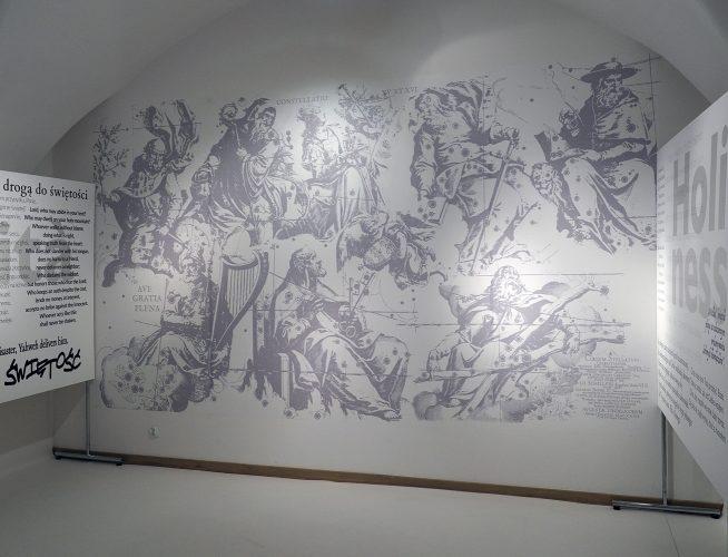 Tapeta - łatwa domontażu iusunięcia. Muzeum Uniwersytetu Jagiellońskiego wKrakowie
