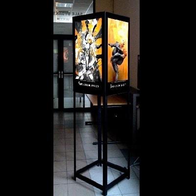 Grafika podświetlana, druk UV na folii antyreflex, wystawa Art Color Balet