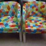 Tkanina obiciowa zindywidualnym wzorem, druk dla firmy Biurotest