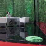 Grafika z folii na biurku i podłodze. Festiwal Boska Komedia 2014.